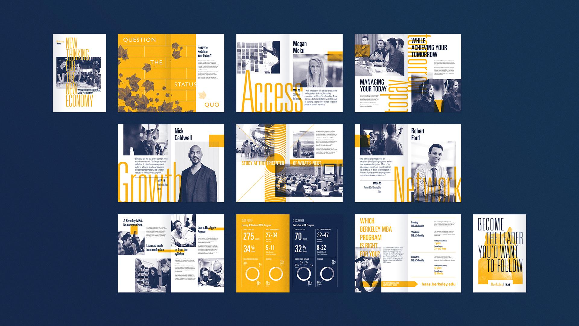 Berkeley Haas Brochure Spreads