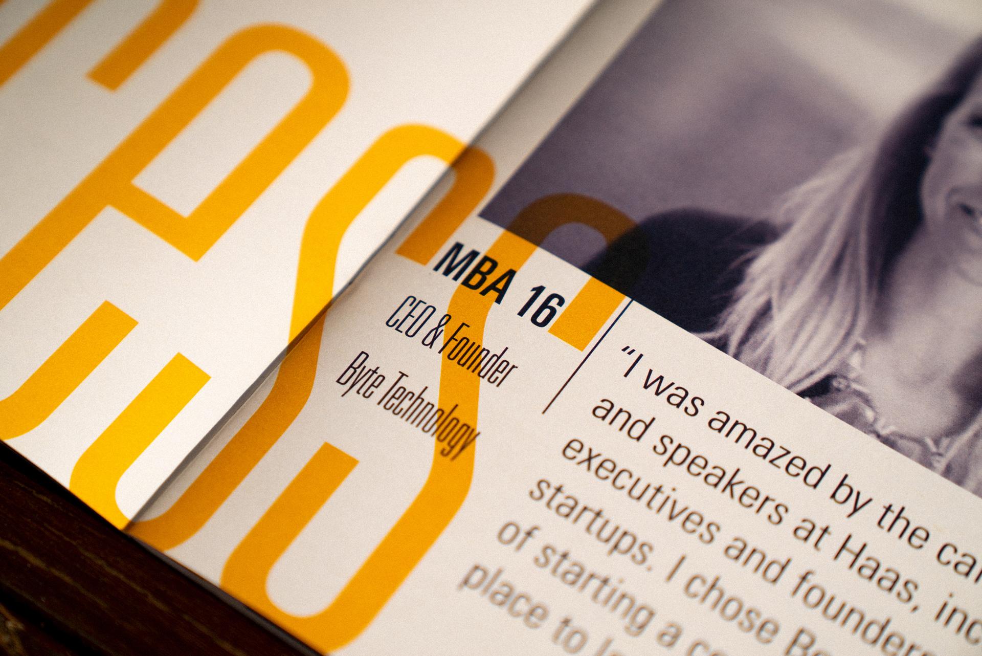 Berkeley Haas brochure page